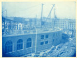 060- [Summer Street Side of South Station under Construction]. In the South Station Collection.
