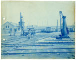 011- [Unidentified Train Yard with Laborers] In the Boston & Albany R.R. – Boston Yard...