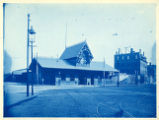 052- [View of the Front of Old Passenger Station of the New England R.R.- Summer Street]. In the...